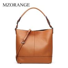 MZORANGE 2019 Luxury Handbags Women Bag Genuine Leather Bucket Bag Women's Bags Shoulder Bags Purse Tote Messenger Black