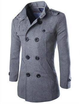 Long Woolen Slim Fit Overcoat - Double Breasted Winter Jacket