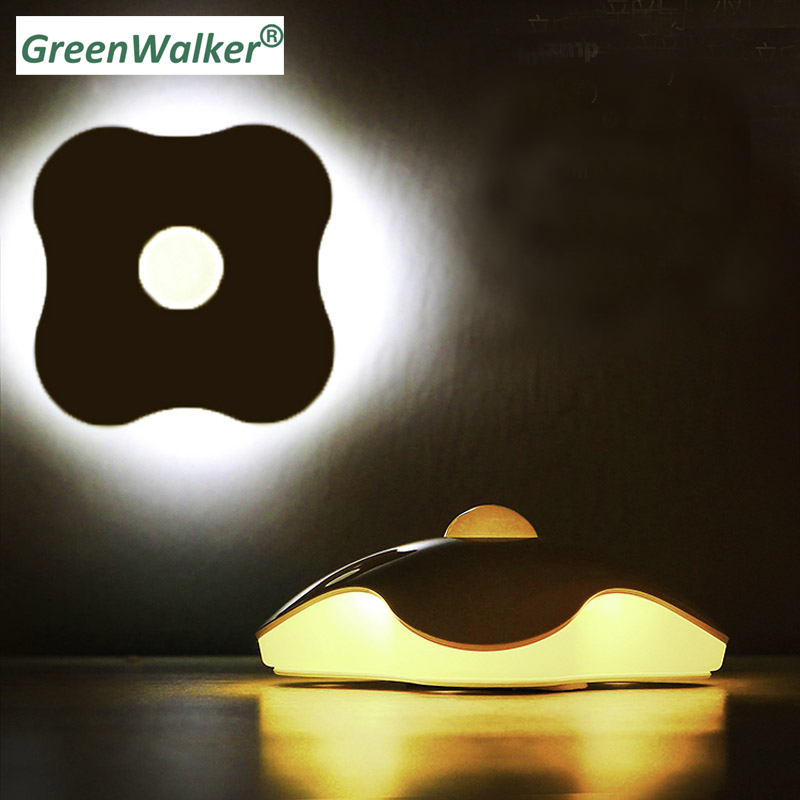 Four Leaf Clover PIR Motion Sensor LED Night Light Smart Human Body Induction Nightlight Battery USB Closet Cabinet Toilet Lamps