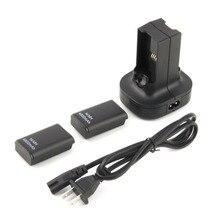 США штекер для Xbox 360 зарядный комплект быстрая зарядка 4800 мАч перезаряжаемая батарея и зарядная станция зарядное устройство док-станция