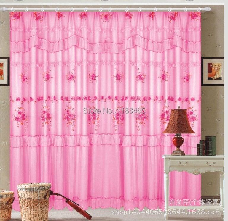 cantonni re rideau de violet rose beige vert dentelle rideaux pour chambre salon salle. Black Bedroom Furniture Sets. Home Design Ideas