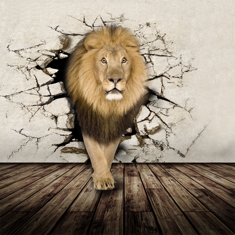 Buy 3d lifelike animal mural wallpaper for Animal wall mural