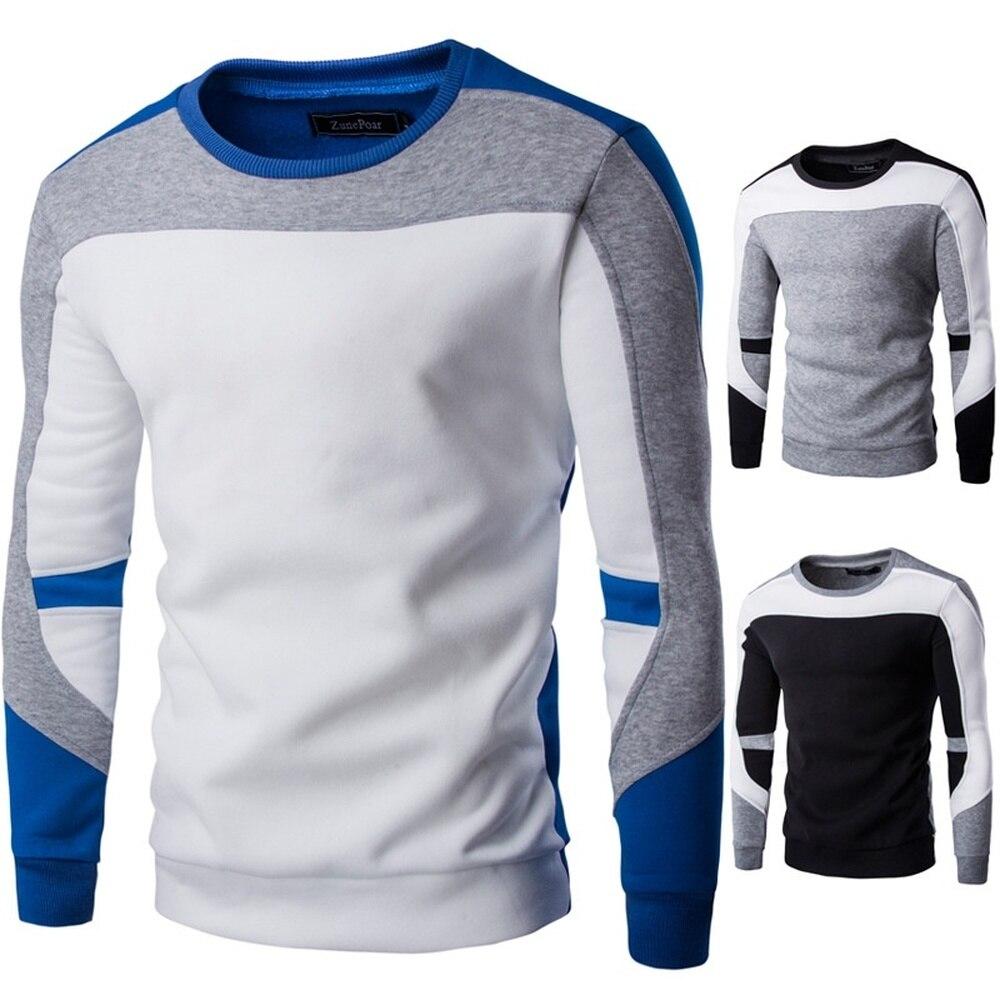 ZOGAA Primavera Outono Camisolas dos homens Homens Meninos de Algodão Hop Patchwork Costura Blusas Masculinas Casuais Agasalho quente 2019