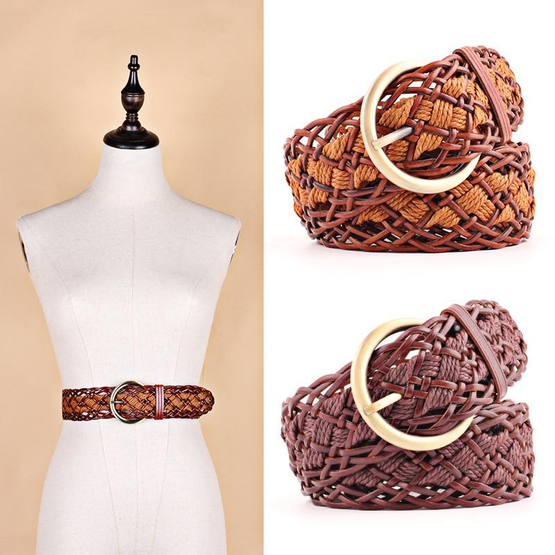 Practical New Style Dress Belt Plait Shape Candy Colors Hemp Rope Belt Braid Womens Hemp Belt Female Belt For Women Summer Dress Hot Sale Without Return Apparel Accessories