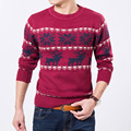 Men's Winter Wool Knitted Christmas Sweater With Deer Thick Pullover Jumper Jersey Hombre Warm Clothes Slimming Korean Manswear