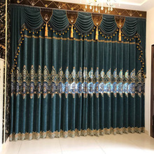 Curtains European Water-soluble Embroidery Cashmere Bedroom for Living Room Modern Window Curtain Valance