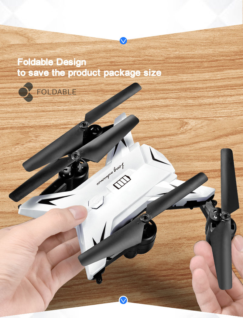 New RC Helicopter KY601S Drone with Camera HD 1080P WIFI FPV RC Drone Professional Foldable Quadcopter  Minutes Battery Life 4
