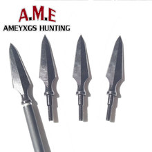 Black Hunting Broadheads Screw Arrowheads Classic Traditional Points Consejos para disparar al aire libre