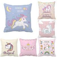 Various Unicorn Print Custom Animal Cushion Cover Party Supplies Decoration Cartoon Throw Pillow Case For Home