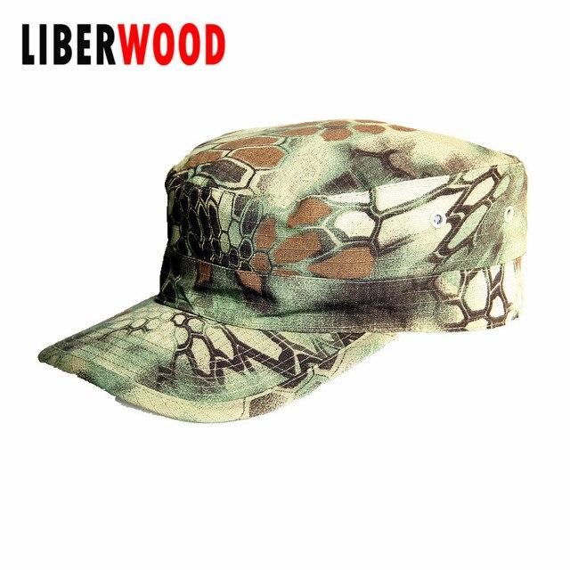 f4463efc0e8 Men Fatigue jungle camo Cap Hat USA Army Force Camouflage army Police  Security Law Enforcement Patrol Hat Caps black Flat top