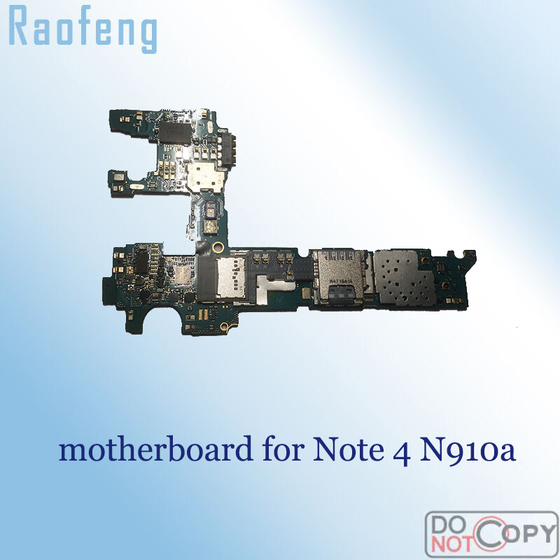 Raofeng Unlocked For Samsung Galaxy Note 4 N910a Motherboard Disassembled Mainboard