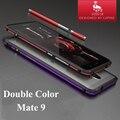 LUPHIE Металлический Бампер для Huawei Mate 9 Двойной Цвет Никогда Не Увядает Алюминиевая Рама Отдельная Кнопка Ударопрочном Корпусе для Mate 9
