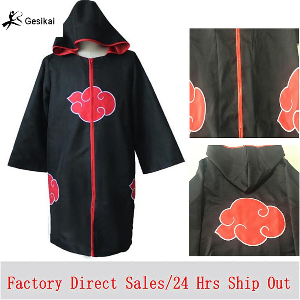 Fabrik Direktförsäljning Naruto Klocka Kappa Kvinna Man Akatsuki Cosplay Kostymer Män Orochimaru Uchiha Madara Sasuke Itachi Kappa