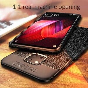 Image 2 - Schokbestendig Case Voor Huawei Mate 20 Pro Case Lederen Textuur Tpu Zachte Beschermende Bumper Rubber Mat Cover Voor Huawei Mate 20