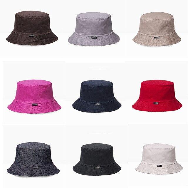 9bdefd91 Man Big Head Two Sides Wear Sun Hats Male Pure Cotton Flat Top Panama Hat  Adult