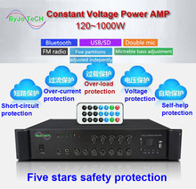 Original ByJoTeCH Bluetooth contant voltage power amplifier Five areas background music Campus public broadcast system 120 1000W byjotech constant voltage ceiling loudspeaker shopping mall airport hall public broadcasting restaurant home theater music horn