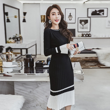 Женский осенний зимний модный свитер, вязаные платья, облегающие эластичные платья с круглым вырезом и длинным рукавом, сексуальные женские платья бодикон, Платья Vestidos