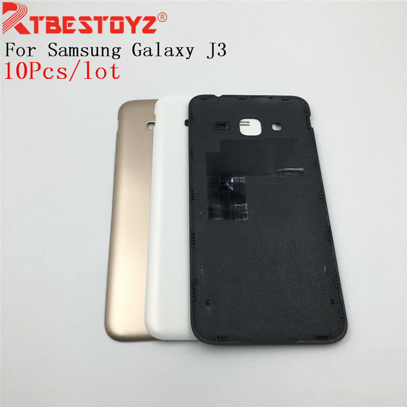 RTBESTOYZ  10PCS 5.0'' For Samsung Galaxy J3 2015 J300 J300F J300H Housing Back Cover Rear Battery Door Fundas Replacement Parts