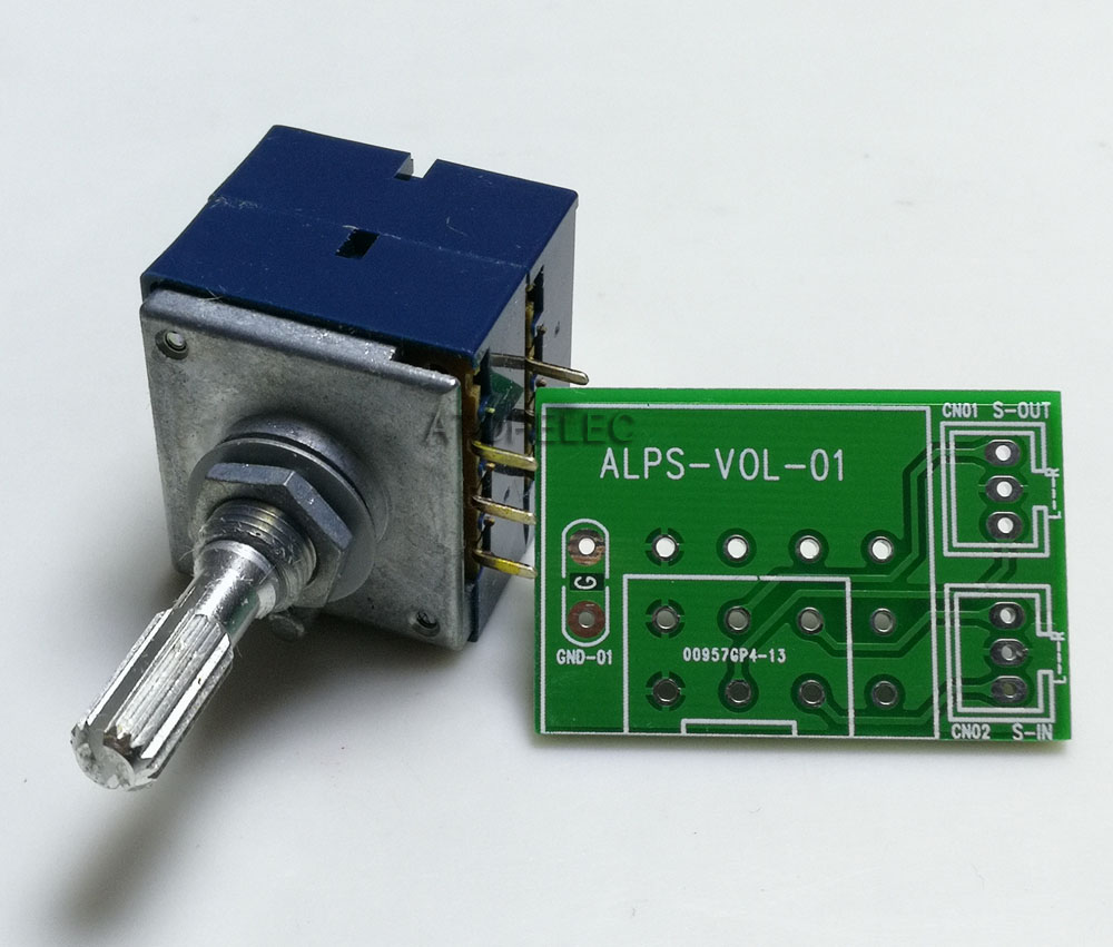 5pcs Japan ALPS RK27 VOLUME Pot Stereo audio taper potentiometer Dual 50K ROUND