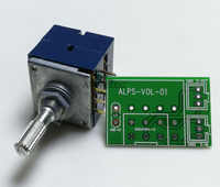 1pc Japan ALPS RK27 Volume LOG Stereo Potentiometer 2-gang Dual 50K/100K/250K Knurled Shaft + PCB