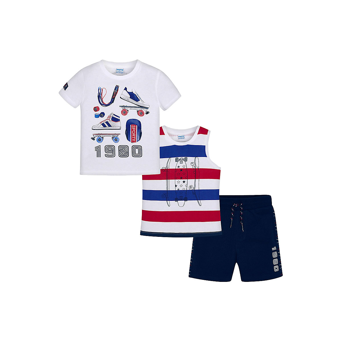 Baby's Sets MAYORAL 10681443 set of clothes for kids T-shirt legs shirt shorts girls and boys hot summer sportswear jerseys shorts skeleton pattern cycling sets for outdoor sport