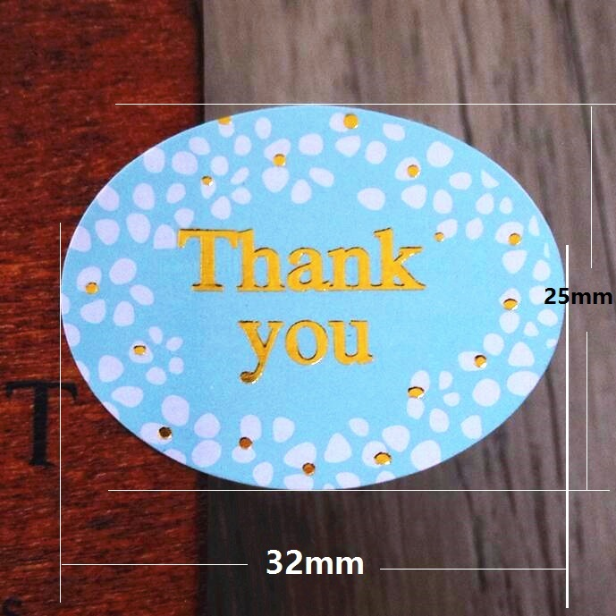 "Купить с кэшбэком 120pcs/lot Round Golden ""Thank you"" series color seal sticker for baking DIY Package label Decoration label stickers retail"