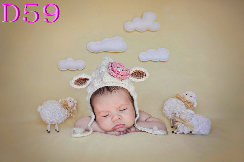 Accessories Lovely Handmade Crochet Baby Girl Bonnet Sheep Hat In Beige With Pink Flower & Earflaps For Christmas Gift Ample Supply And Prompt Delivery Mother & Kids