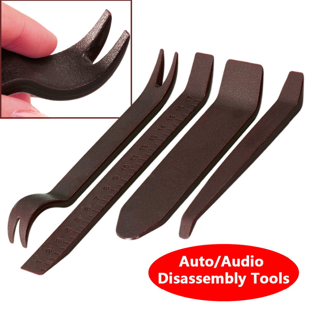 Car Radio Door Clip Panel Trim Dash Audio Stereo Removal Installation Pry 4x Luxury Plastic Repairing Tool  For BMW Audi Benz VW car stereo radio removal remove tool 4 keys for audi for ford for volkswagen car accessories