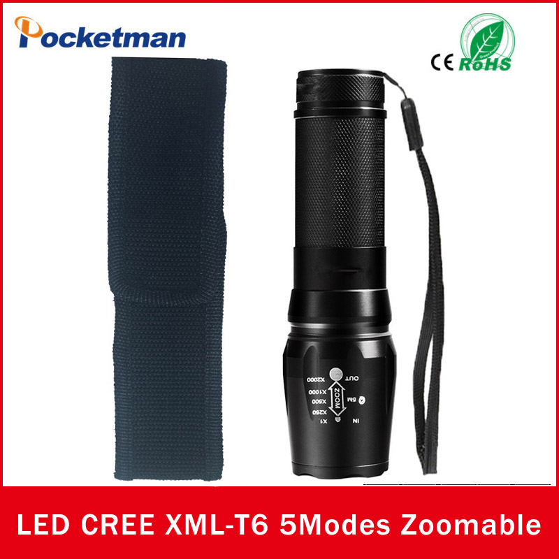 zk50 NEW 4000LM 5 Modes <font><b>LED</b></font> Flashlight Torch Zoomable Waterproof Lampe Torche Linternas <font><b>Led</b></font> <font><b>Zaklamp</b></font> Free Shipping