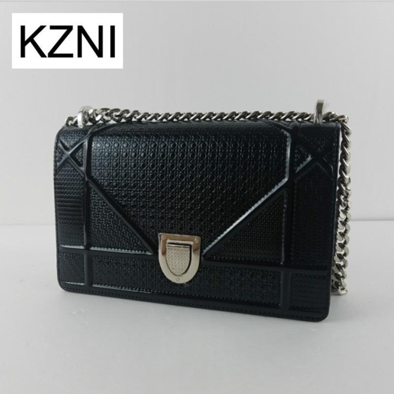 KZNI womens genuine leather crossbody bag messenger bag women leather  bolsas femininas bolsas de marcas famosas M031906