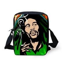 Hommes Messenger Sacs 2016 Célèbre Marque Reggae Bob Marley Caractère Impression Bandoulière Sacs Casual Hommes Petits sacs de Voyage Sacs à Bandoulière