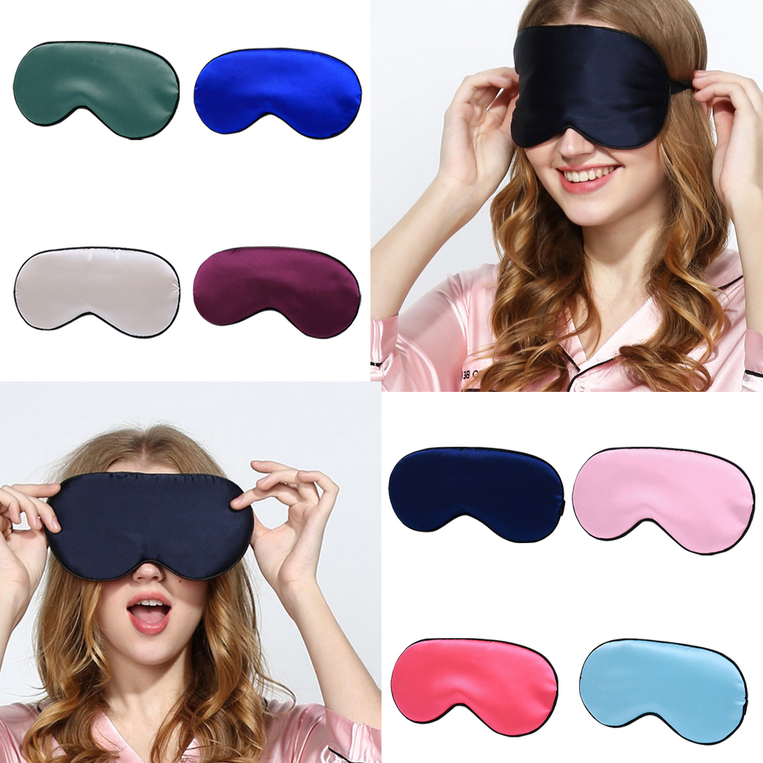 Women Colorful Sequin Travel Rest Sleep Eye Shade Cover Eye Patch Eye Mask Well