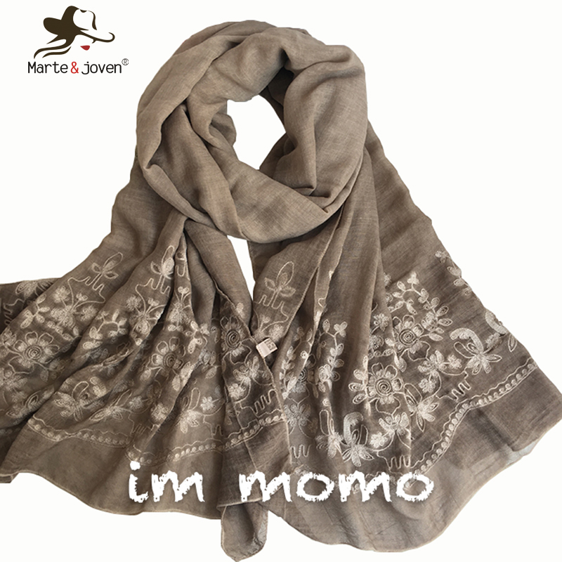 [Marte&Joven] New Vintga Floral Embroidery Scarf and s