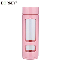 BORREY 380Ml High Borosilicate Glass Water Bottle Tea Infuse