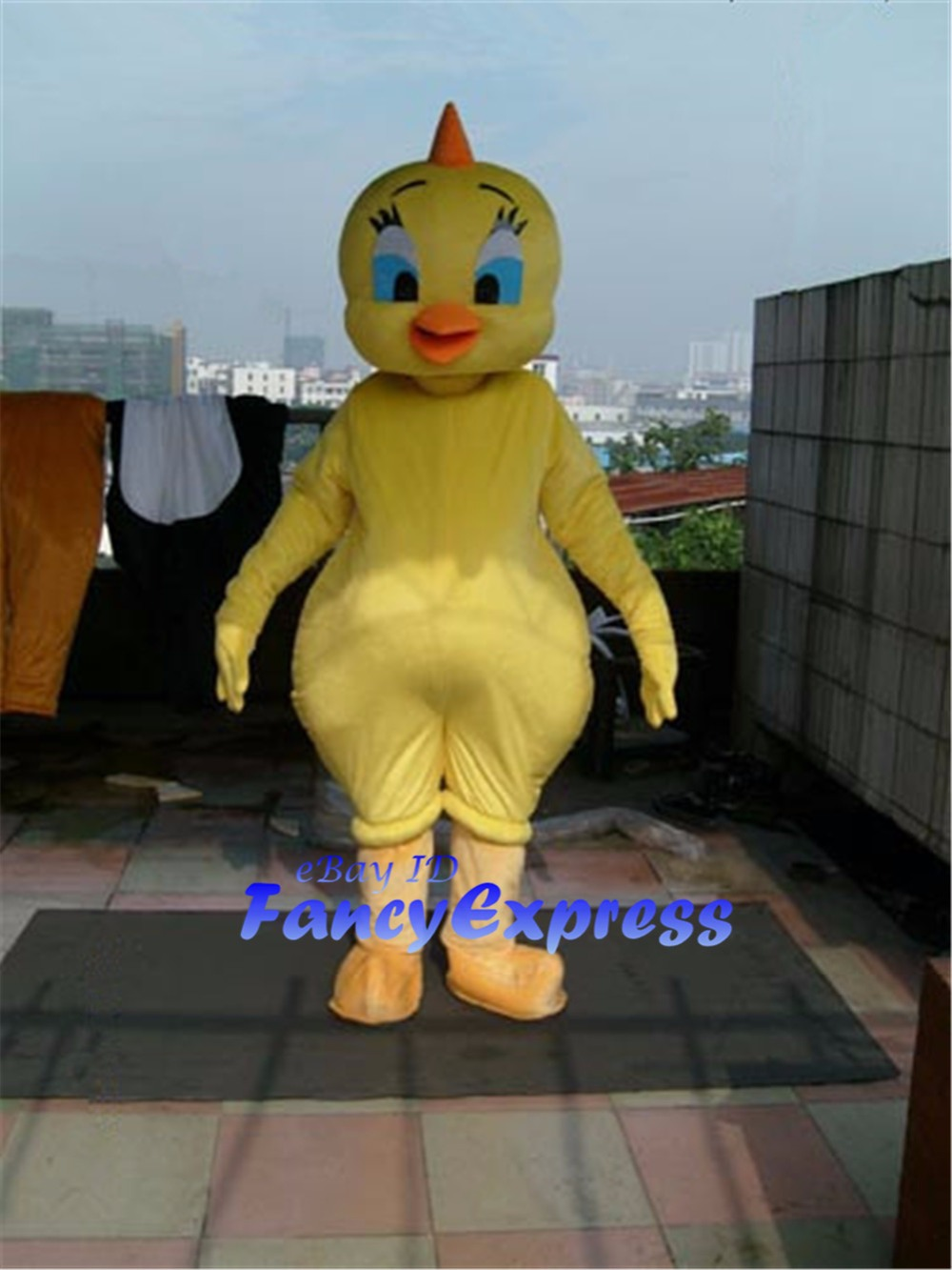 looney tunes tweety bird mascot costume yellow chicken birthday