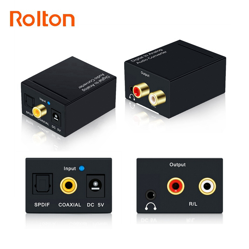 Coaxial Optical Fiber Toslink Digital to Analog L/R RCA 3.5mm Jack Audio Converter SPDIF Digital Audio Decoder Stereo AmplifierCoaxial Optical Fiber Toslink Digital to Analog L/R RCA 3.5mm Jack Audio Converter SPDIF Digital Audio Decoder Stereo Amplifier