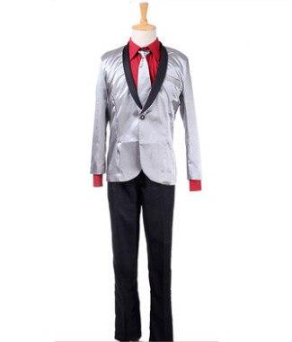 halloween traje de payaso para hombre comando suicida de vestuario para hombres juego detective para hombres