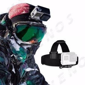 Image 2 - عمل الكاميرا الأسود شريط للرأس يتصاعد ل Gopro Hero4/3/2/1 Xiaoyi 4K SJCAM أندرويد الهاتف آيفون