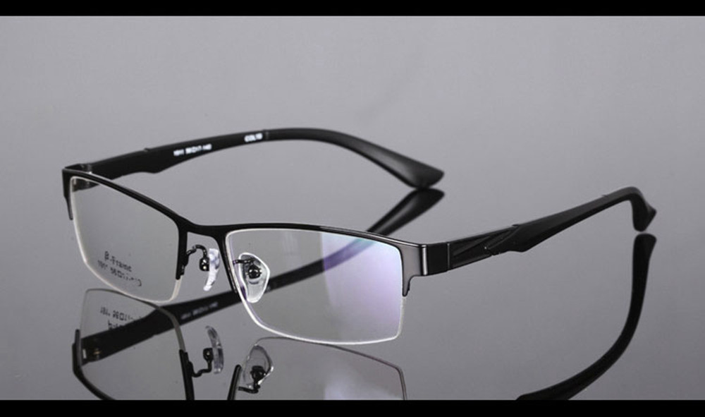 a3be4cc57d Mens Half-rim Commercials Alloy Frames Eyewear Eyeglasses Custom Made  Optical Prescription Reading Glasses Photochromic