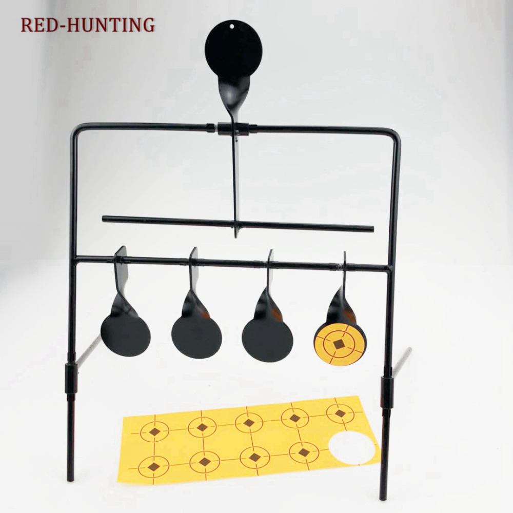 Tactical Marksmanship Training Hunting Shooting Air Gun Steel Automatic Reset Rotate Resetting Shooting Target