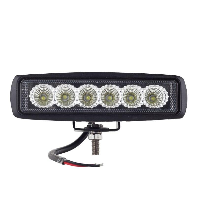 led day time running light spot offroad 18w LED worklight lamp 12V/24V Tractor 4x4 Motorcycle External Light bar bosch c5w 12v 5w day time 1987301060