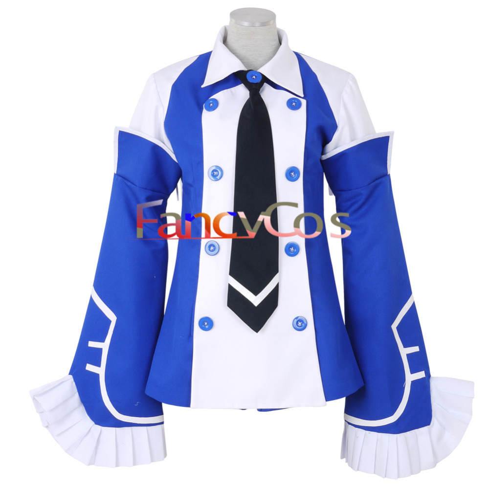 Halloween Pandora Hearts Echo Dress Cosplay Costume Blue Dress Tie Anime Movie High Quality Custom Made