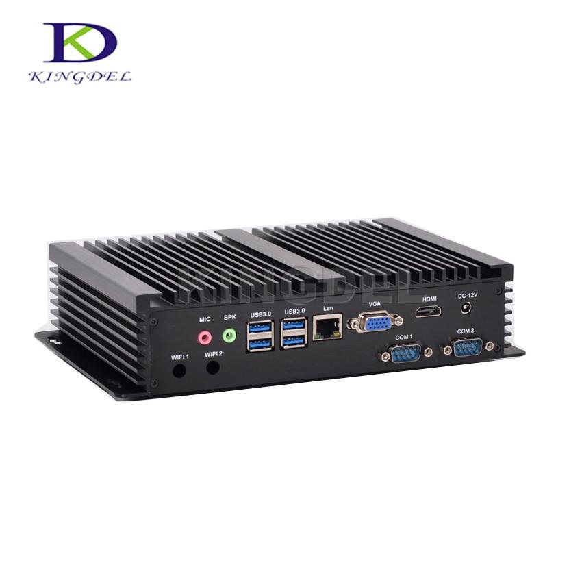 2017 Micro PC Mini Computer Intel Core I3 I5 I7 CPU Mini PC Windows 10 With VGA 2*COM RS232 HDMI 300M WIFI 3D Game Support