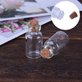Mini Wish Bottle 10 pcs/lot Glass Bottles With Corks Decorative Clear Wishing Bottle Stopper Glasses Small Vials Jars Containers