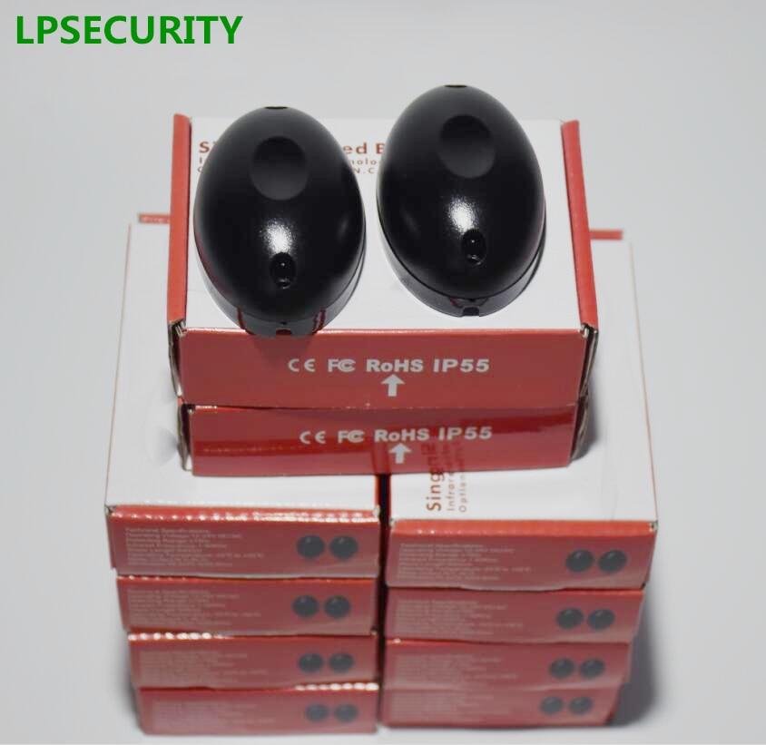 LPSECURITY 10 paires sensibilité Active infrarouge sécurité détectée capteurs détecteur de faisceau photoélectrique pour portes automatiques