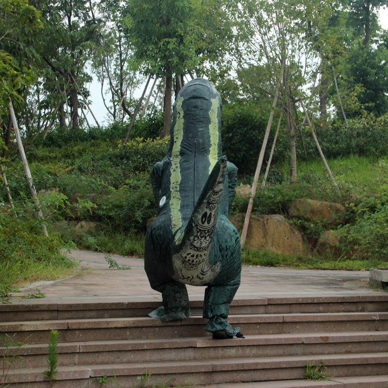 Party Adult Dinosaur Costume Cosplay Fan Operated T Rex Inflatable Dinosaur Outfit Mascot Halloween Costume for Adult Dino Rider