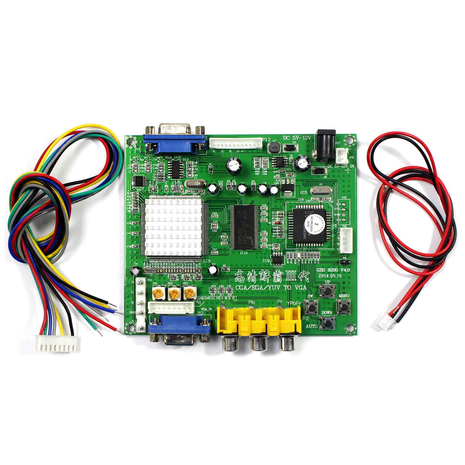 CGA+EGA+RGB to VGA GAME Video Converter Board 1 VGA Output Game Convert GBS8200|rgb to vga|cga ega|ega to vga - title=