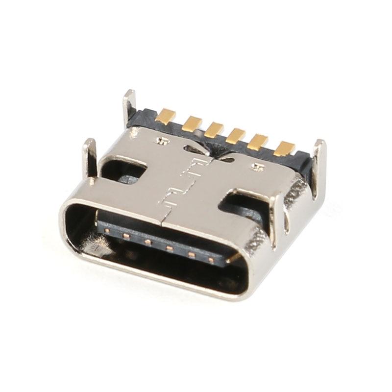 20/10/5 шт. в партии, 6 Pin разъем SMT разъем Micro Тип usb C 3,1 женского размещения микросхема для PCB дизайна DIY высокий ток зарядки Соединители      АлиЭкспресс