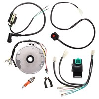 Universal Motorcycle Dirt Pit Bike CDI For Spark Plug Switch Magneto Wire Harness Kit 50 125cc