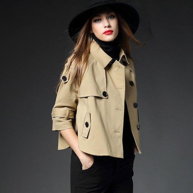 2016 Outono E Inverno Trench Coat Para As Mulheres Bat Manga Curta Solta Capa manto Casacos